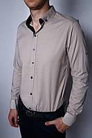 Рубашка мужская PS 120003685 бежевая