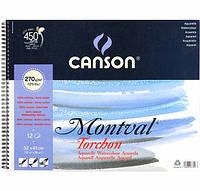 """Альбом для акварели 270г альб.форм.(спираль) """"Montval"""" 12л 32х41см"""