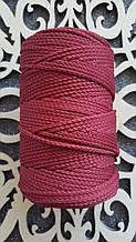 Полиэфирный шнур без сердечника 3мм №16 Светло-бордовый
