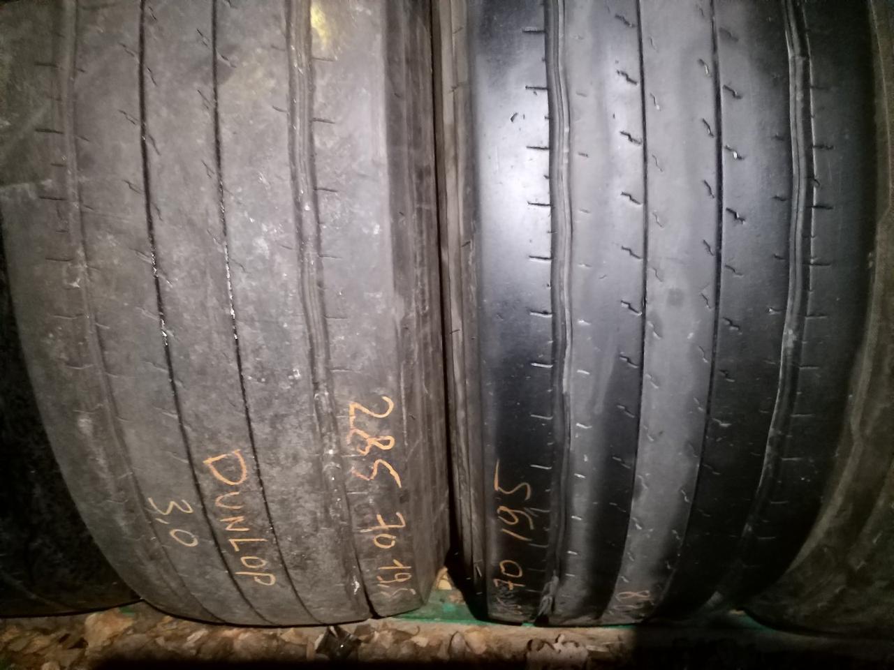 Вантажні шини б/у 285/70 R19.5 Dunlop, ПРИЧІП, пара, 11 мм