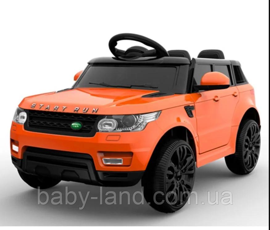 Детский электромобиль EVA колеса Джип FL1638 Оранжевый