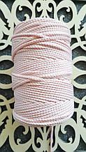 Полиэфирный шнур без сердечника 3мм №17 Зефир