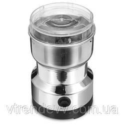 Кофемолка ножевая импульсная Rainberg RB-833 300W серебро
