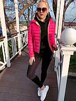 Женская демисезонная куртка с воротником на кнопках, фото 1