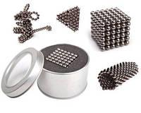Игрушка-конструктор головоломка Неокуб Neocube 216 магнитных шариков 5 мм. (Silver)