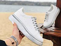 Кроссовки , кеды женские белые  Alexander McQueen