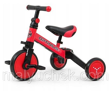 Трехколесный велосипед Milly Mally Optimus 3 в 1 Red