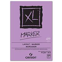 "Склейка для маркера 70г гладкая ""XL MARKER"" 100л А3 (29.7х42см) БЕЛАЯ"