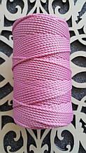 Полиэфирный шнур без сердечника 3мм №19 Розовый