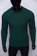 Свитер теплый Figo 6728 зеленый S размер
