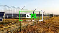 Ограждение солнечных батарей, электростанций, панелей (секционные сварные панели или сетка рабица) - под ключ