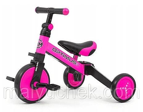 Трехколесный велосипед Milly Mally Optimus 3 в 1 Pink