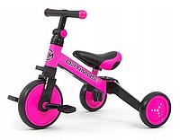 Трехколесный велосипед Milly Mally Optimus 3 в 1 Pink, фото 1