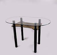 Стеклянный обеденный стол Kalipso bl