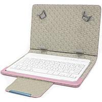 Чехол Lesko 7 дюймов + kayboard для планшета электронных книг с клавиатурой беспроводная Bluetooth WL Pink (3184-9414)