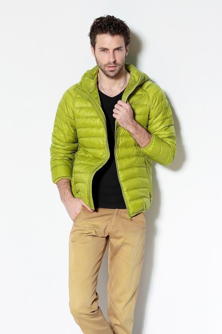 Чоловіча пухова куртка ULTRA LIGHT DOVN розмір М зелена.