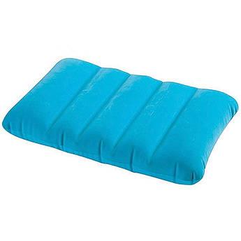 Детская надувная подушка Intex 68676 (Голубая) 43х28х9 см