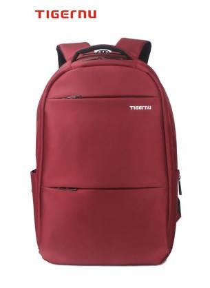 Рюкзак Tigernu для ноутбуков бордовый с белым логотипом с кодовым замком модель Т-В3032А