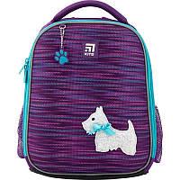 Рюкзак школьный каркасный ортопедический Kite Education 555 Cute puppy, для девочек, фиолетовый (K20-555S-3)