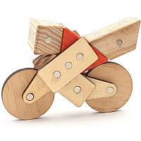 Магнитный деревянный конструктор Зевс Техника 28 деталей (Т-001) КОД: Т-001
