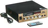 Усилитель звука UKC SN 003 BT с радио и Bluetooth Gold (4829)