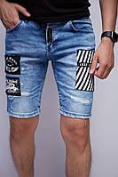 Шорты мужские джинсовые Lose 9021 синие