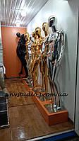 Манекен-Гипсовый женский, мужской  с золотистым, серебристым напылением