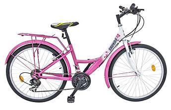 Велосипед багатошвид.24 SAVKOS 45SH білий (рожева деколь)111-473 ТМХВЗ