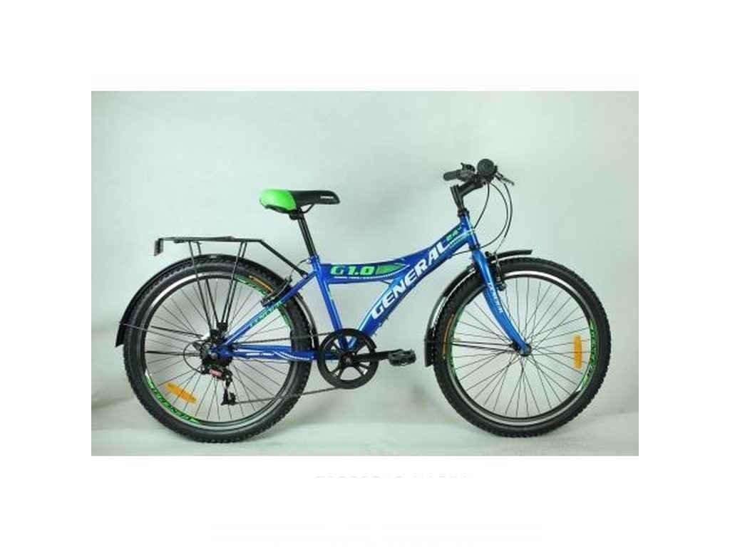 Велосипед 24 1,0 STEEL рама 13 (7 sp) синій ТМGENERAL