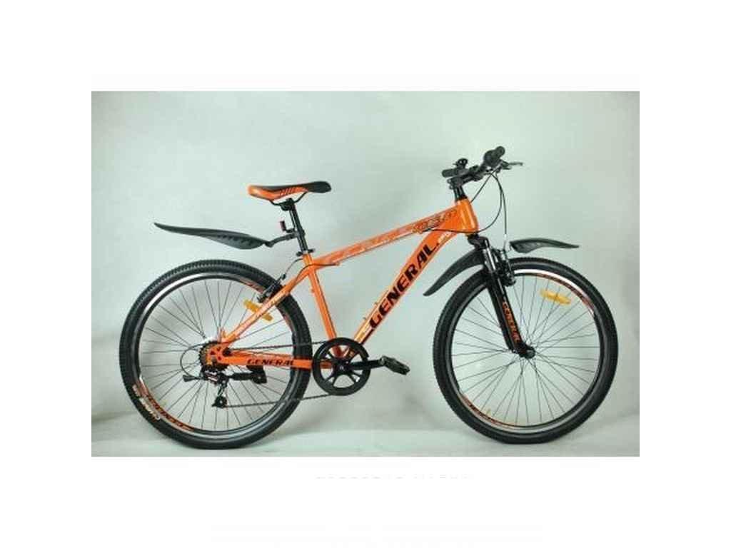 Велосипед 26 6,0 STEEL рама 16 (21 sp) чорно-помаранч. ТМGENERAL