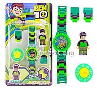 Детские наручные часы конструктор Бен 10 + фигурка лего любимого героя Отличный Подарок !