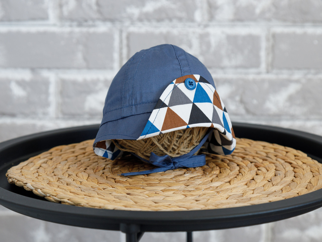"Панама ""Lapel"", Треугольники синие 46-50 (1-2 года)"
