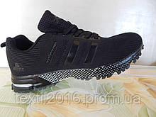 Легкие удобные мужские кроссовки черные