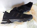 Легкие удобные мужские кроссовки черные, фото 3