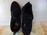 Легкие удобные мужские кроссовки черные, фото 4