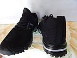 Легкие удобные мужские кроссовки черные, фото 5