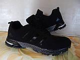 Легкие удобные мужские кроссовки черные, фото 6