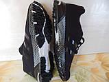 Легкие удобные мужские кроссовки черные, фото 7