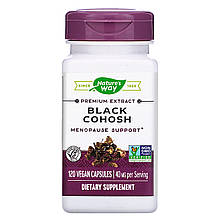 "Клопогон Nature's Way ""Black Cohosh"" поддержка при менопаузе, 40 мг (120 капсул)"