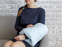 Подушка для кормления на руку, голубая