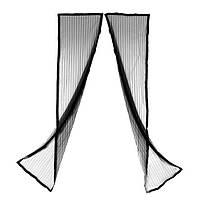 Дверная антимоскитная сетка на магнитах Magic Mesh Черная (hub_np2_0070) КОД: hub_np2_0070
