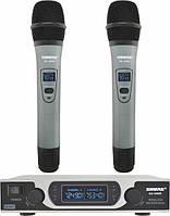 Радіосистема Shure SH-999R + 2 мікрофона, радіосистема з мікрофонами, радіомікрофони з базою, фото 1