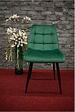 Стул обеденный Chic Velvet ( Чик Вельвет) зелёный, фото 2