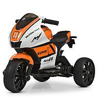 Детский мотоцикл-трицикл Yamaha M 4135EL-1-7 бело-оранжевый