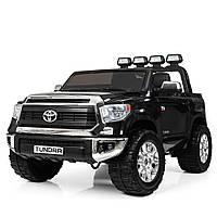 Двухместный детский электромобиль Toyota Tundra JJ 2255 EBLR-2 черный