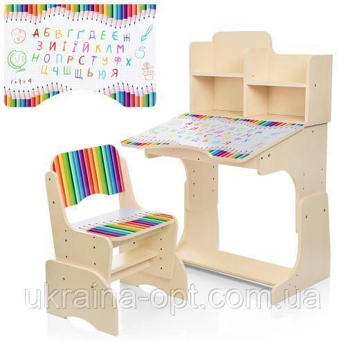 Детская парта со стульчиком Bambi. 4 положения столика