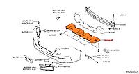 Защита переднего бампераNissan Leaf ZE1 (18-) 62663-5SA0A