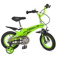Велосипед детский двухколесный PROFI Projective LMG12124 12 дюймов зеленый