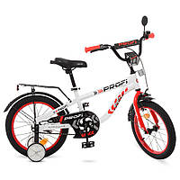 Велосипед детский двухколесный PROFI T16154 Space 16 дюймов бело-красный