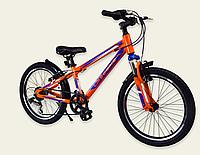 Детский спортивный двухколесный велосипед 20 дюймов A192004 Like2bike оранжевый ручной тормоз